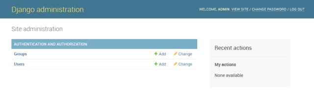 Django Admin index page
