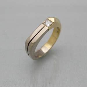bicolour ring diamant