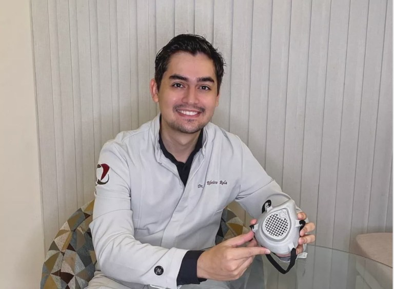 Igor Ribeiro dentista cria mascara 3d com escaneamento facial premiacao