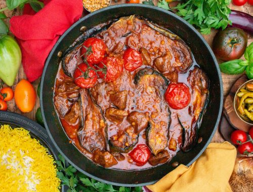 Khoresh Gheymeh Bademjoon Recipe Lamb and Eggplant Stew - I got it from my Maman