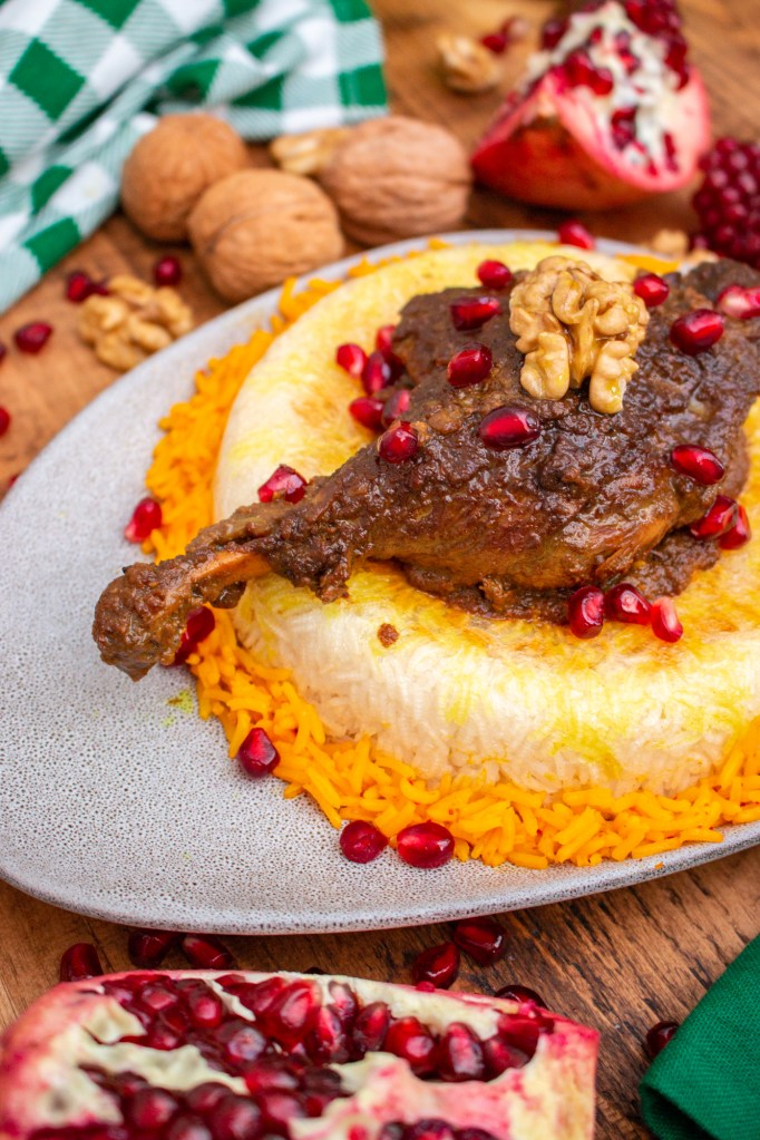 Khoresh-e Fesenjoon - Persian Pomegranate Walnut Stew | I got it from my Maman