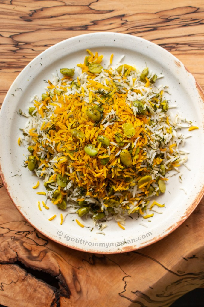 Baghali Polo recipe - Persian Dill and Broad Bean Rice   igotitfrommymaman.com