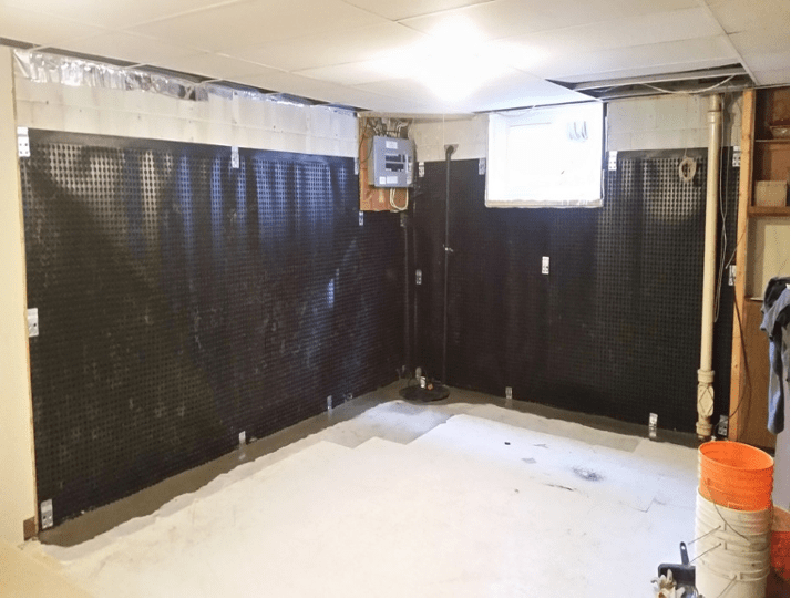 interior weeping tile drainage system