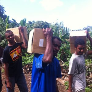 Carrying Bibles to Veteboso