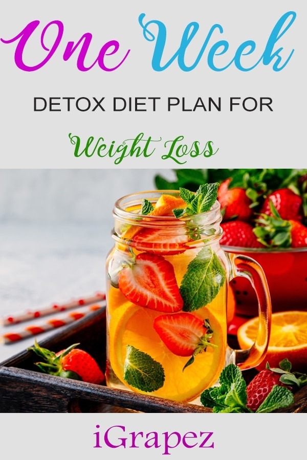 One Week Detox Diet Plan for Weight Loss- [Only 7 Days & Effective]