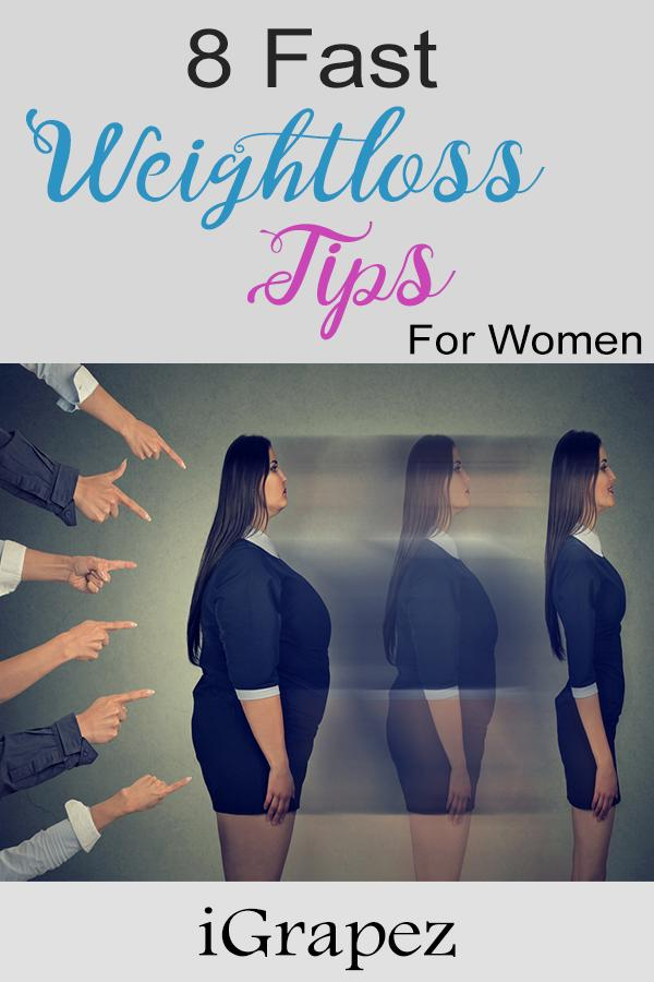 8 Fast Weight Loss Tips for Women