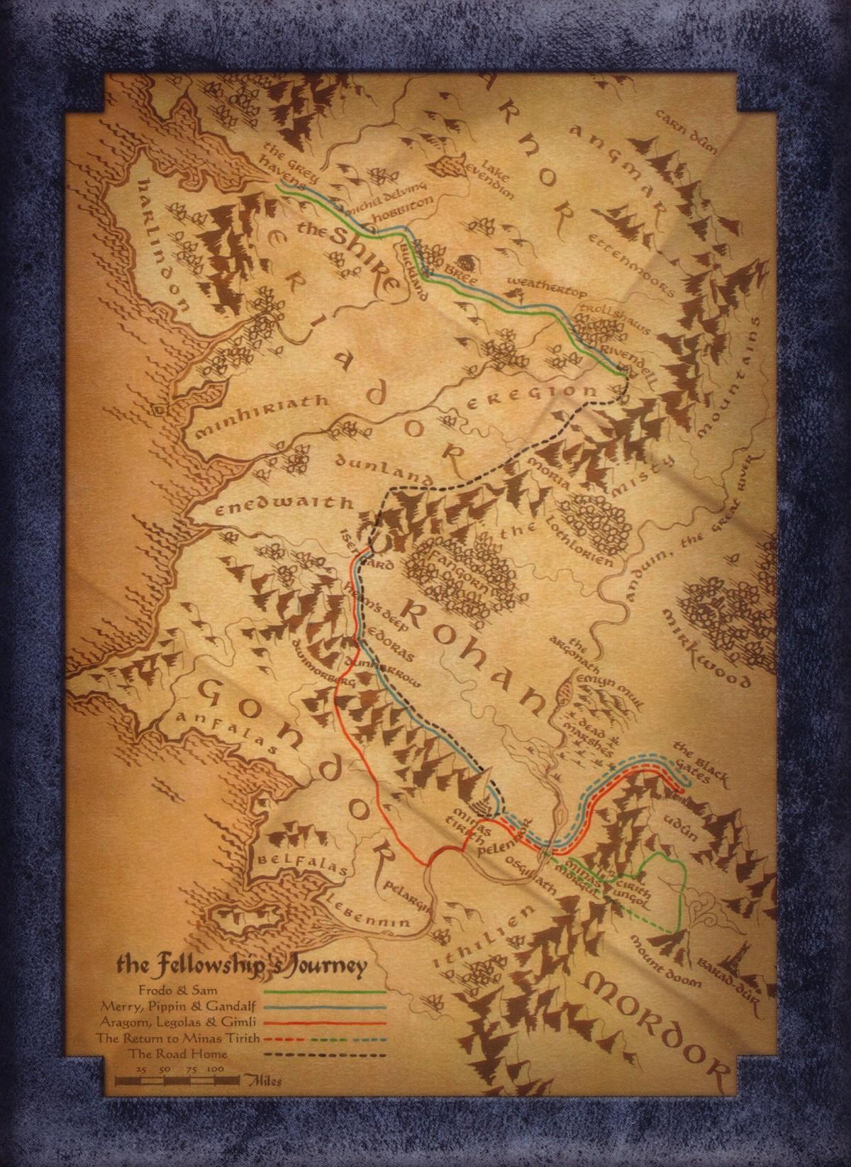 Le Seigneur Des Anneaux Carte : seigneur, anneaux, carte, Seigneur, Anneaux, Version, Longue, Cartes