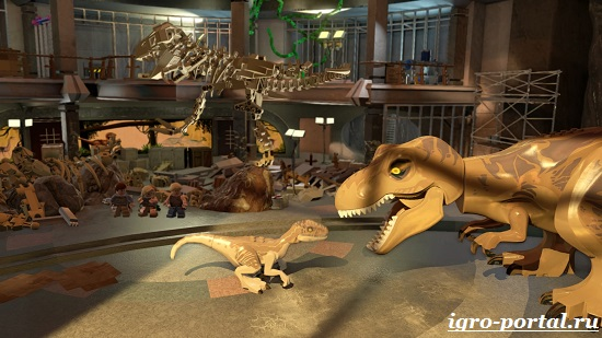 LEGO Jurassic World – пластиковые динозавры на мониторе
