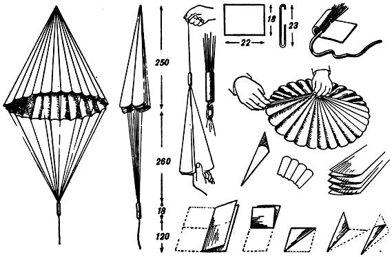 144 Как сделать из бумаги парашют который летает. Как сделать парашют из бумаги, основные правила