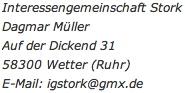 Impressumsdaten: IG Stork, Auf der Dickend 31, 58300 Wetter (Ruhr)