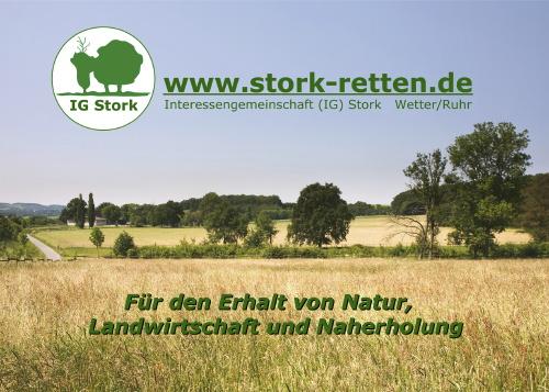 Postkarte IG Stork