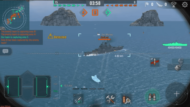 نتيجة بحث الصور عن ‪world of Warships Blitz: MMO Navy Fleet War Game‬‏
