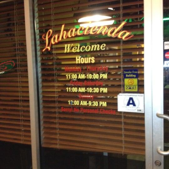 Hacienda Sx Mexican La Menu Greenwood Restaurant