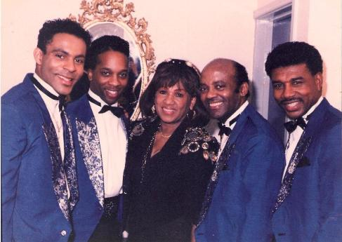 Faye Treadwell with The Drifters