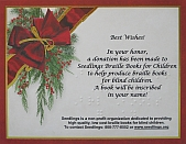 Photo of Seedlings' 2012 Holiday Tribute Card