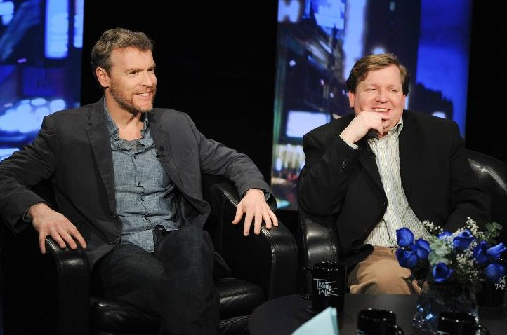 Tate Donovan and David Lindsay-Abaire