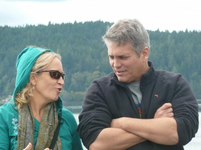 Lisa Thomassen and Dr. Arrondo