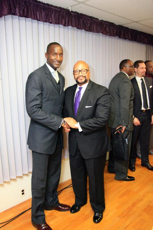 Randal Pinkett and Bishop Hilliard