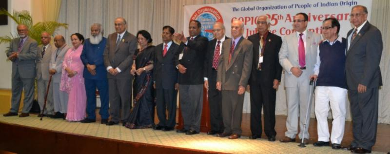 GOPIO Life Members at Inception in 1989 Present at the T& Jubilee Convention