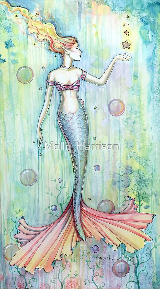 Bubbles Mermaid Art By Molly Harrison By Molly