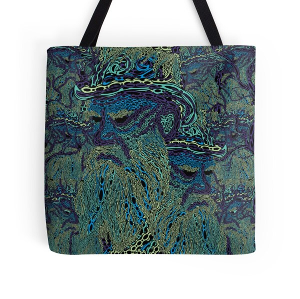 """tolstoy Psychedelic Wallpaper"" Tote Bags Andrei Verner"