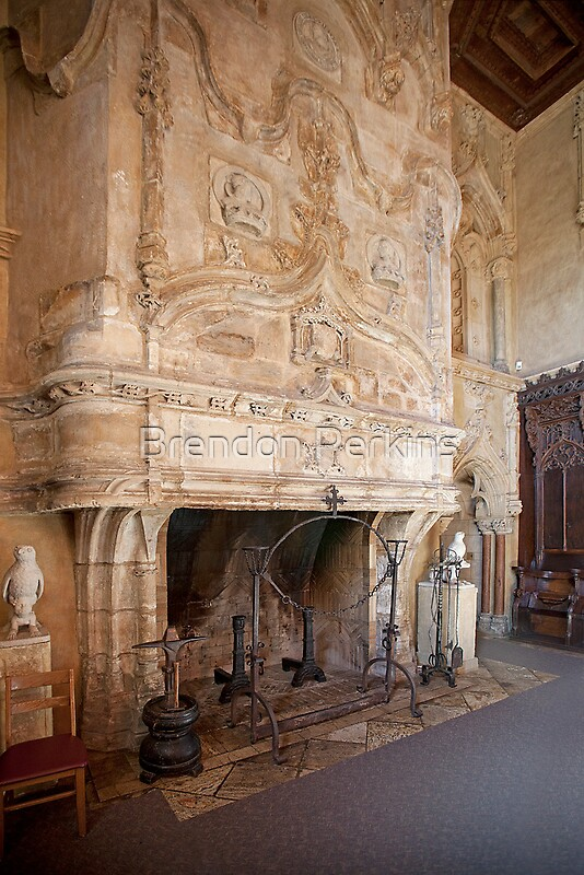 Grand Fireplace Hearst Castle by Brendon Perkins