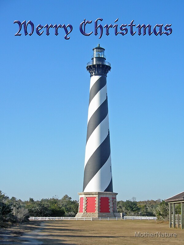 Cape Hatteras Lighthouse Outer Banks Christmas Card