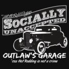 Outlaw's Garage. Socially unaccepted Hot Rod. by htrdesigns
