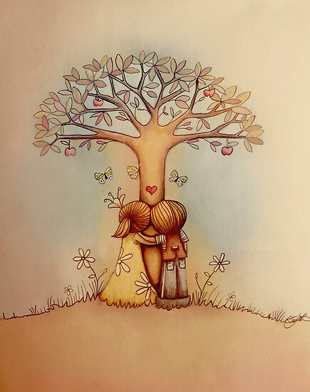 underneath the apple tree by Karin Taylor