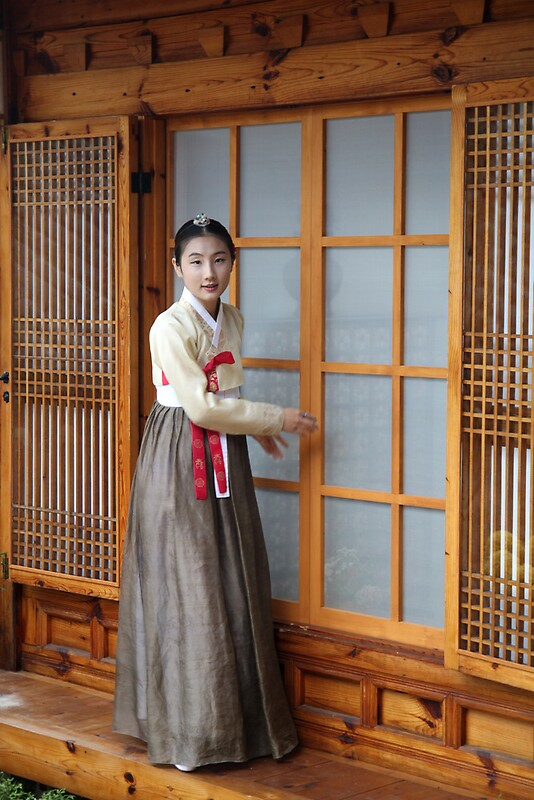 Korean Hanok and Hanbok by Jane McDougall  Redbubble