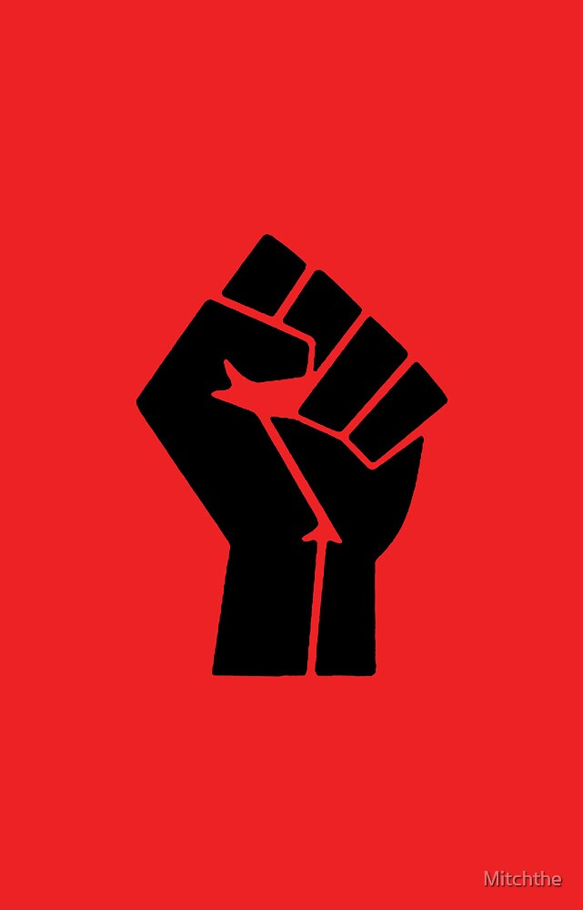 Power to the People Fist Red by Mitchthe  Redbubble