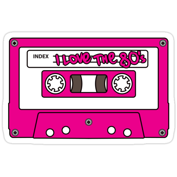 """Download """"I love the 80's - pink tape"""" Stickers by eZonkey 