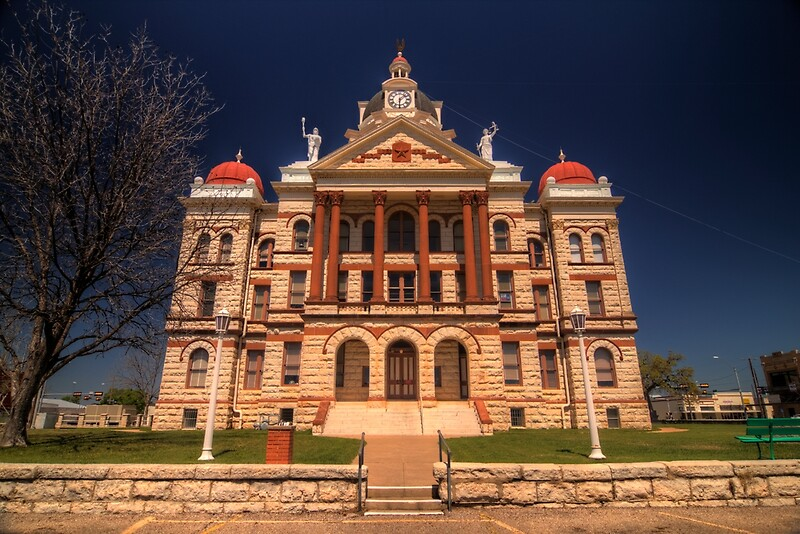 Coryell County Courthouse  Gatesville Texas by Terence Russell  Redbubble