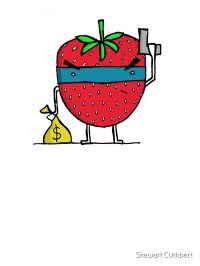 """""""Stick Em Up...This Is A Strawberry"""" Stickers by Stewart ..."""