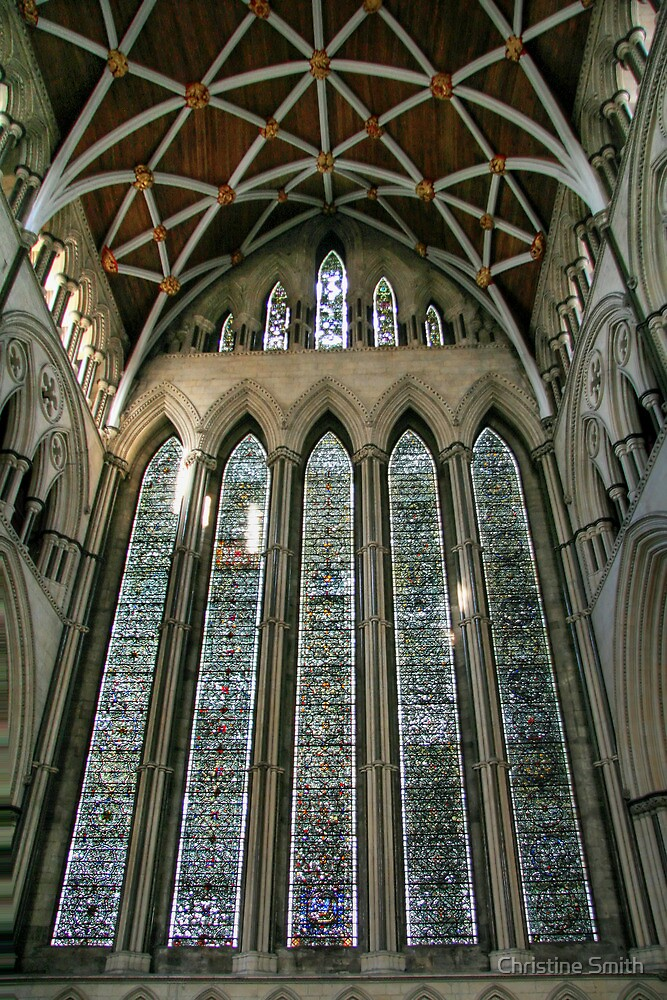 The Five Sisters Window in York Minster by Christine