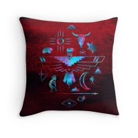 """Native American Symbols"" Throw Pillows by savannahrae ..."