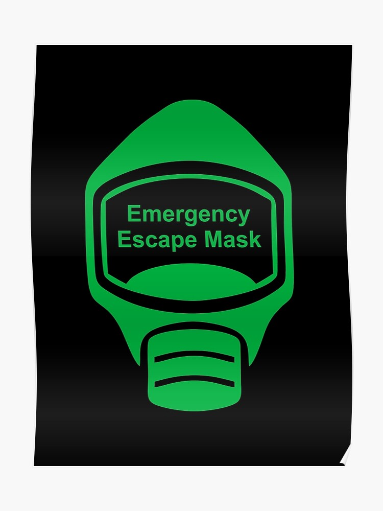 emergency escape mask or