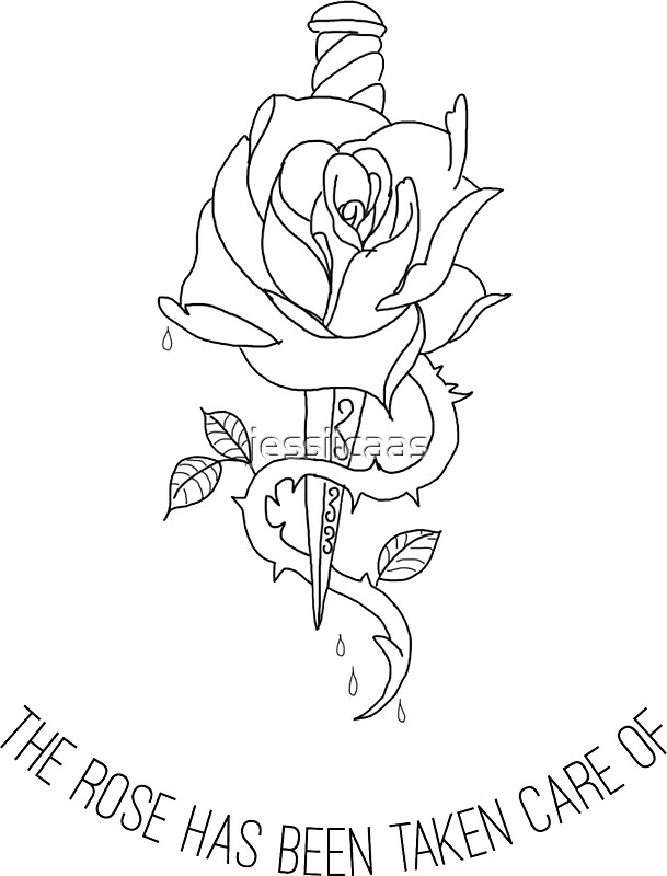 Rose With Dagger Tattoo Meaning