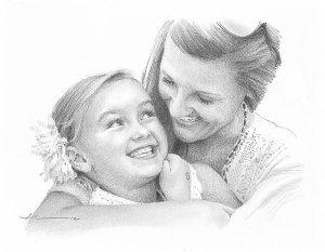 daughter mom drawing redbubble portrete comanda