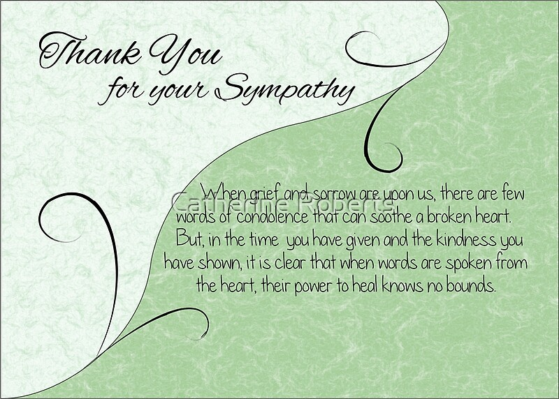 Thank You Sympathy Card Pastel Green With Vintage