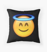 Angel Emoji: Throw Pillows | Redbubble