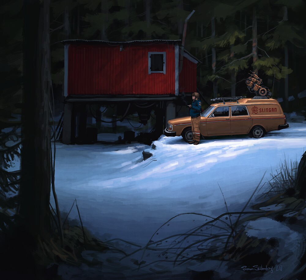 Skogverkstaden By Simon Stlenhag Redbubble