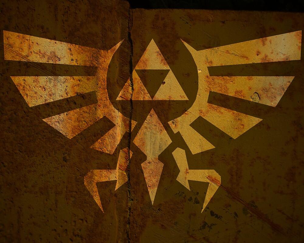 Zelda Wall Mural Poster Triforce War Torn by Packmania