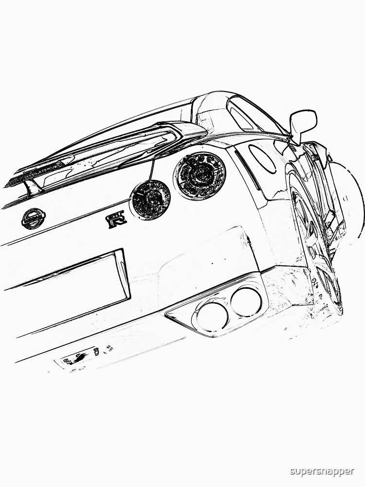 Gallery Of Coloriage Cars Facile Coloriage Nissan Gtr With