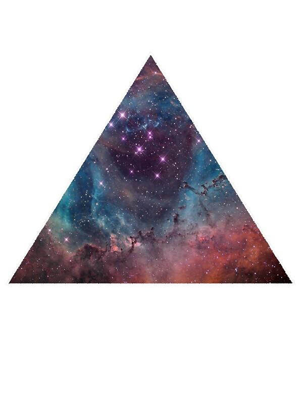 90S Grunge Nebula Galaxy Space Triangle Pattern