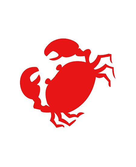 Cute Red Crab Outline Poster by RedPine  Redbubble