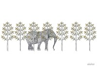 """""""wire elephant illustration"""" Framed Prints by aiaiou ..."""