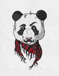 """Hipster Panda"" by Dina Rodriguez | Redbubble"