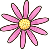 """Pink flower"" Stickers by Mhea 