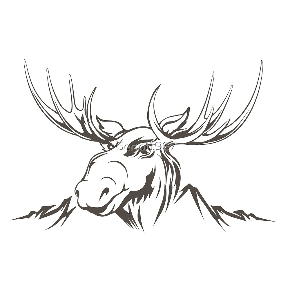 Moose Head By Gertot1967 Redbubble